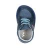 Dětská kožená domácí obuv bata, modrá, 104-9001 - 19