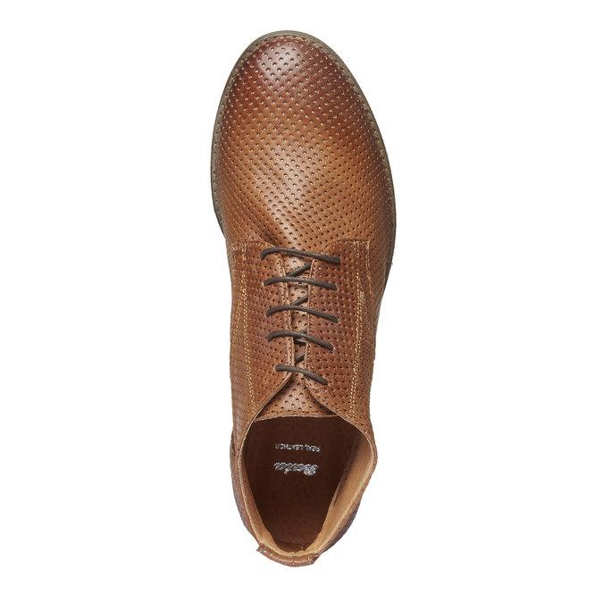 Dámské kožené kotníčkové boty bata, hnědá, 524-3468 - 19