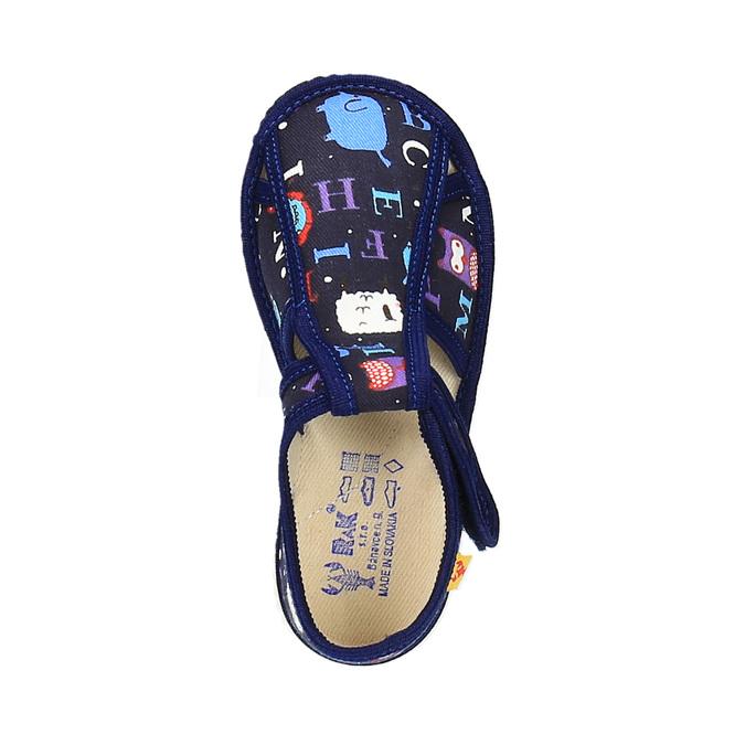 Dětská domácí obuv bata, modrá, 179-9005 - 19