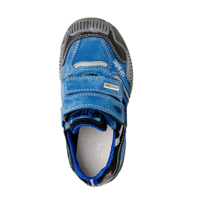 Dětské Kožené tenisky na suché zipy mini-b, modrá, 413-9130 - 19