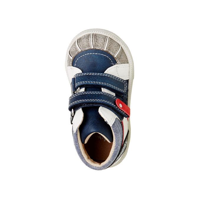 Kotníčkové boty na suché zipy mini-b, modrá, 111-9101 - 19