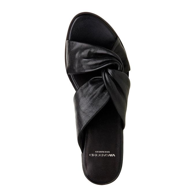 Kožené nazouvací sandály vagabond, černá, 564-6018 - 19
