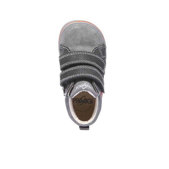 Kožené kotníkové boty na suché zipy primigi, šedá, 113-2121 - 19