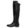 Dámské kozačky nad kolena bata, černá, 591-6604 - 19