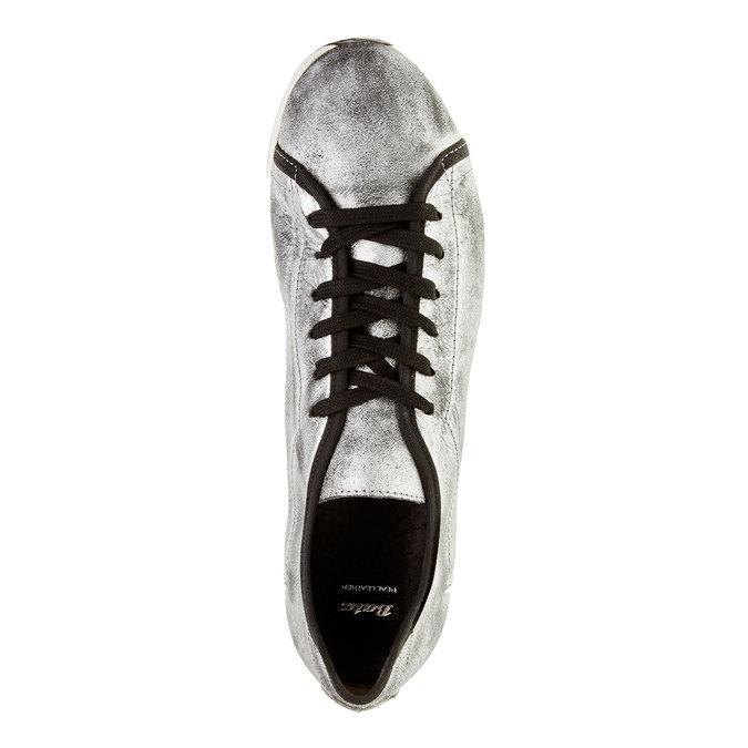 Stříbrné kožené tenisky bata, stříbrná, 526-1131 - 19