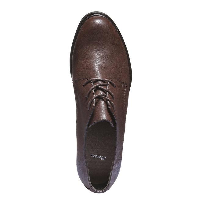Dámské boty v derby stylu bata, hnědá, 521-4101 - 19