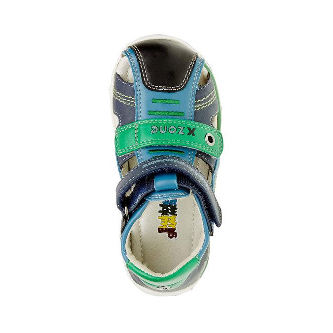 Dětské kožené sandály bubblegummer, modrá, 114-9144 - 19