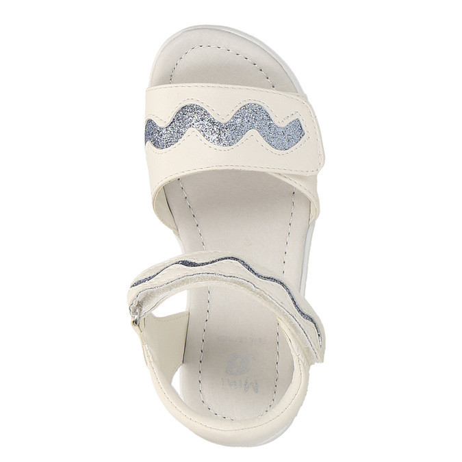 Dívčí sandály se třpytkami mini-b, bílá, 261-1159 - 19