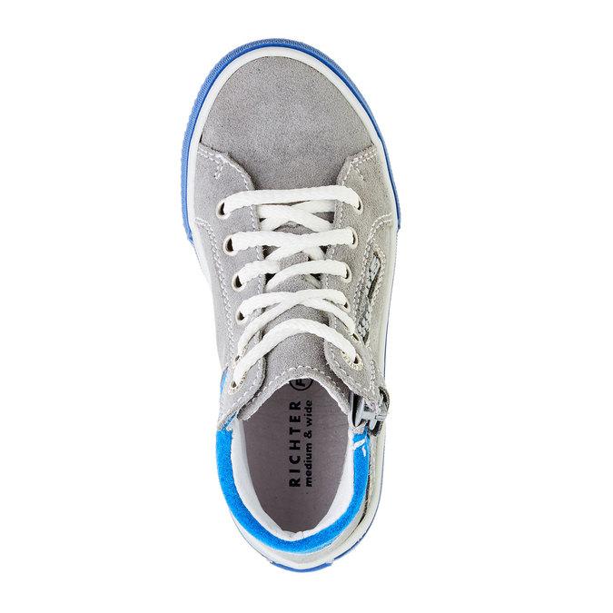 Chlapecká kožená obuv richter, šedá, 413-2003 - 19