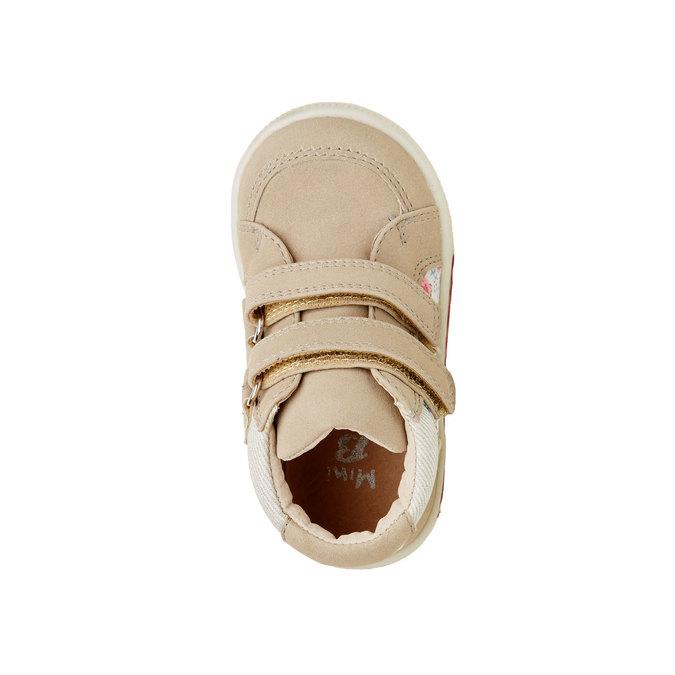 Kotníčkové boty na suché zipy mini-b, béžová, hnědá, 121-8101 - 19