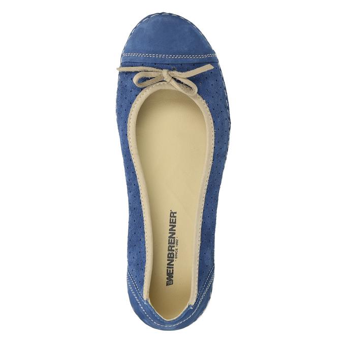 Ležérní kožené baleríny weinbrenner, modrá, 526-9503 - 19