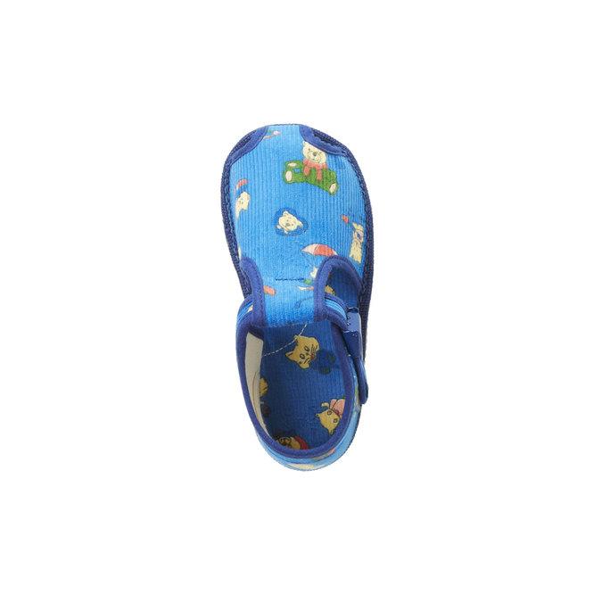 Dětská domácí obuv ke kotníkům bata, modrá, 179-9210 - 19