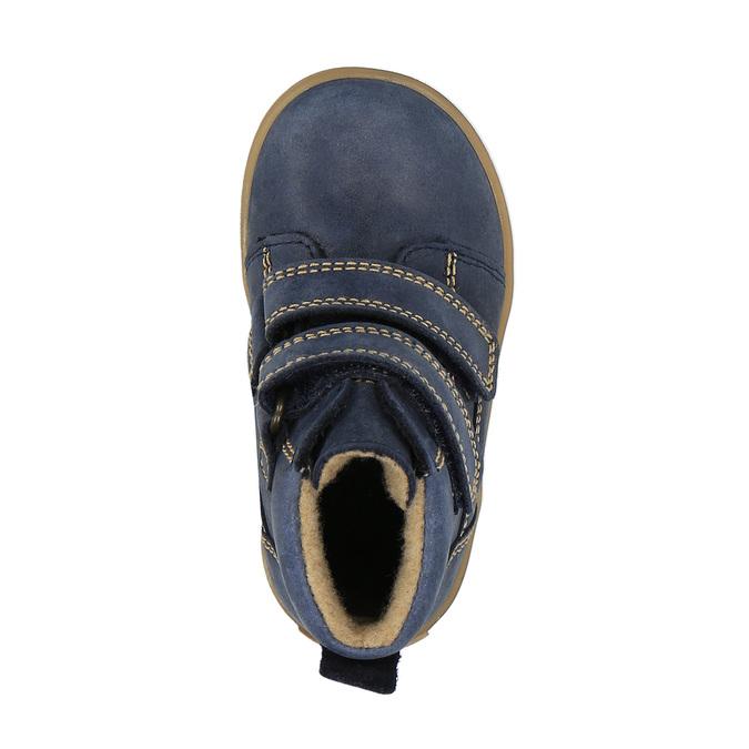 Dětská kožená obuv nad kotníky richter, modrá, 194-9001 - 19