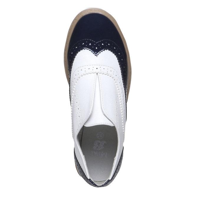 Dětské polobotky ve stylu Spectator shoes mini-b, černá, 321-6178 - 19