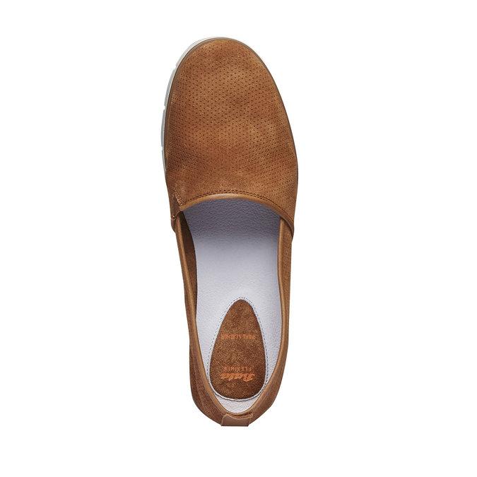 Kožené Slip-on boty s perforací flexible, hnědá, 513-3200 - 19