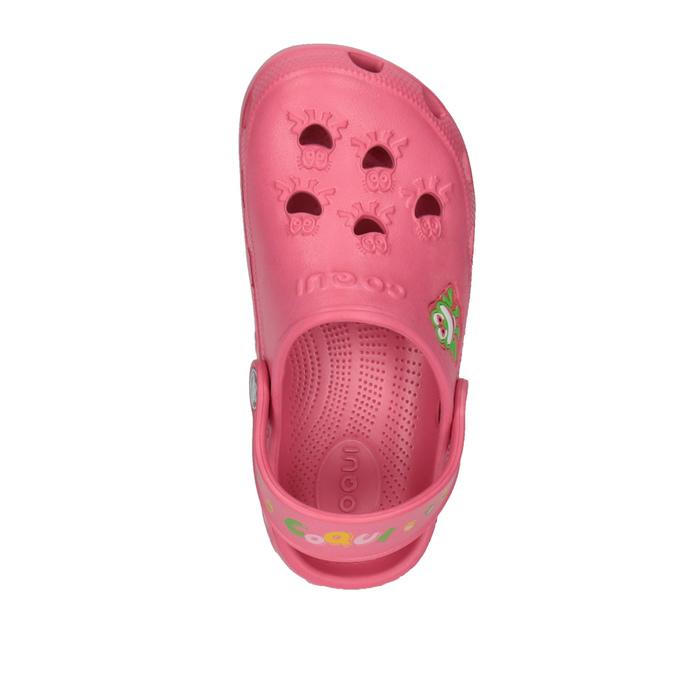 Dětské sandály s žabičkou coqui, růžová, 301-5600 - 19