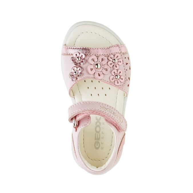 Dětské kožené sandály geox, růžová, 166-5100 - 19