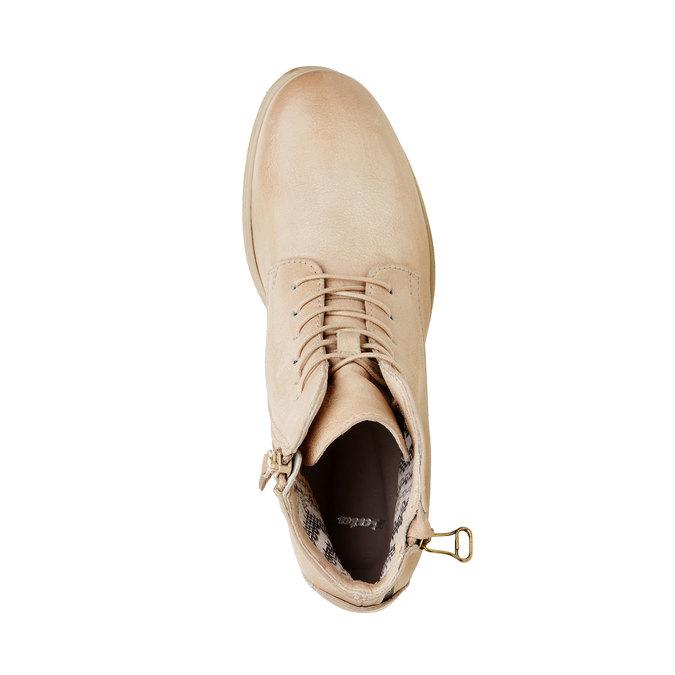 Kožené kotníčkové boty se zipem bata, bílá, 596-1103 - 19