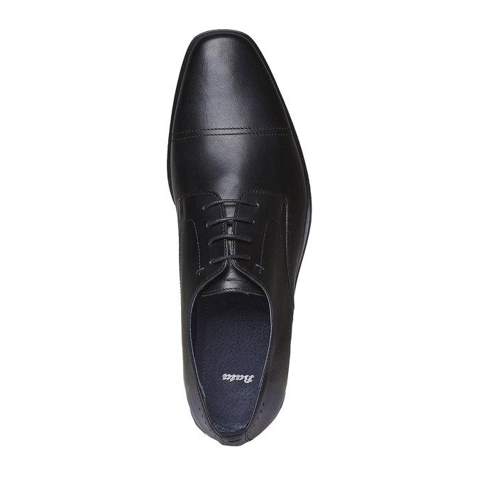 Kožené Derby bata, černá, 824-6845 - 19