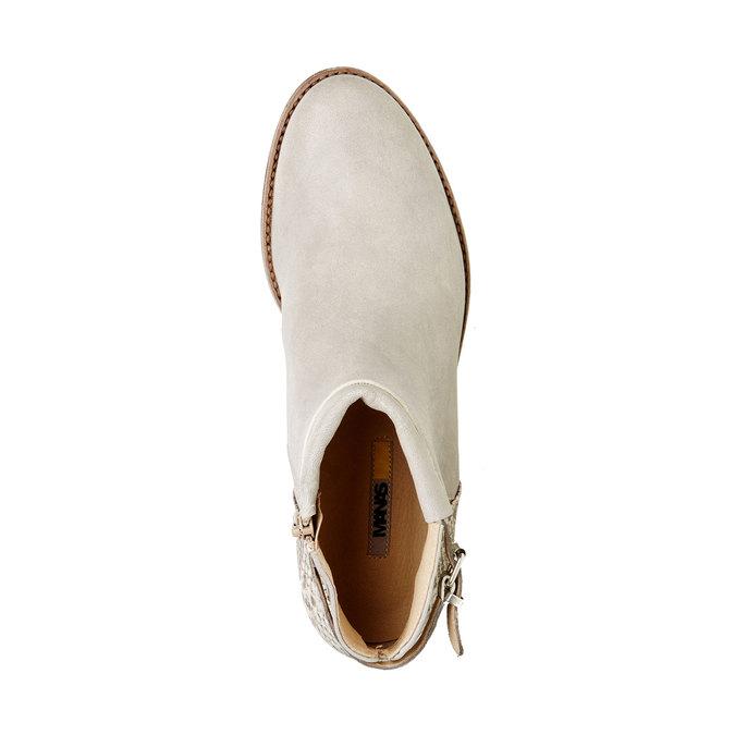 Kožené kotníčkové boty manas, šedá, 596-2109 - 19