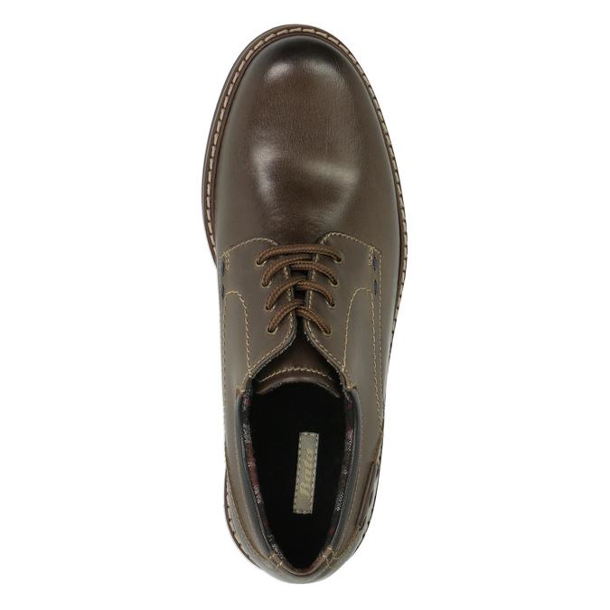 Kožené polobotky s výraznou podešví bata, hnědá, 826-4641 - 19