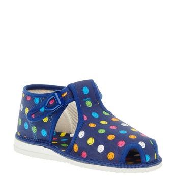 Dětská domácí obuv bata, fialová, 179-9100 - 13