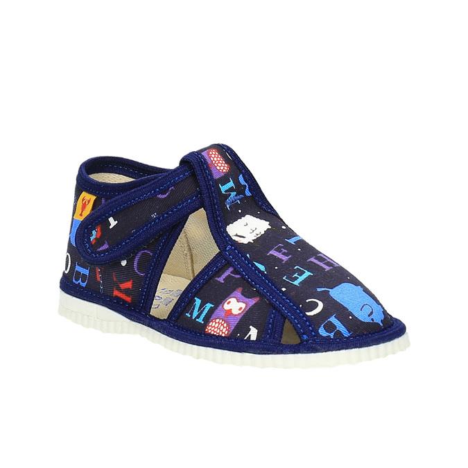 Dětská domácí obuv bata, modrá, 179-9005 - 13