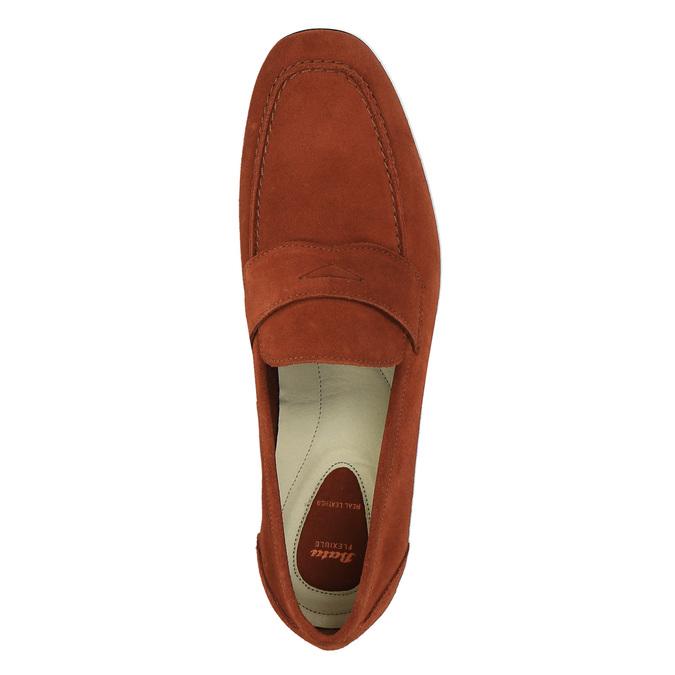 Pánské kožené mokasíny flexible, červená, 853-5186 - 19