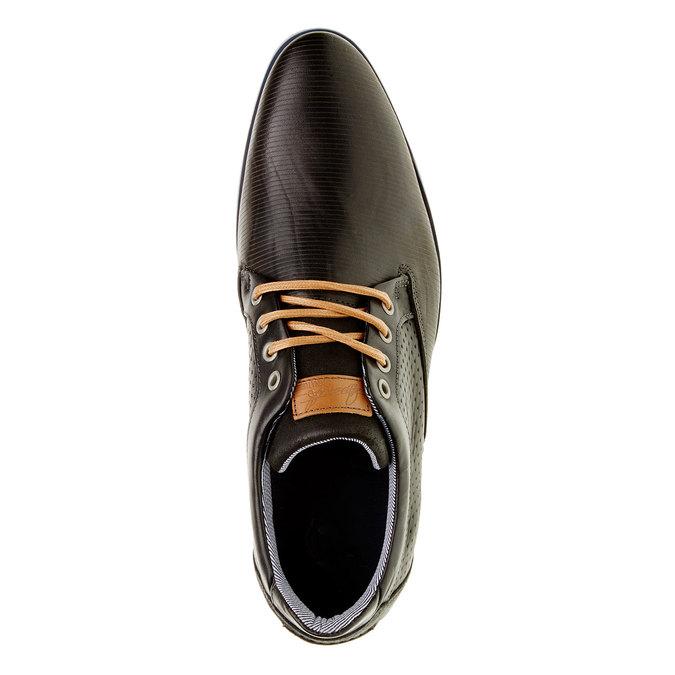 Ležérní kožené polobotky bata, černá, 824-6290 - 19