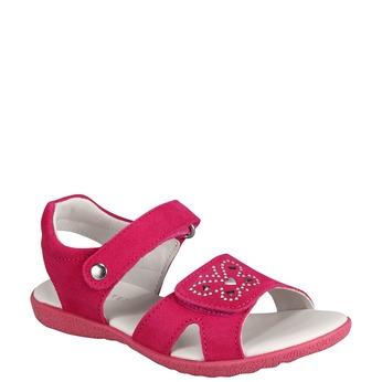 Kožené sandály richter, růžová, 263-5100 - 13