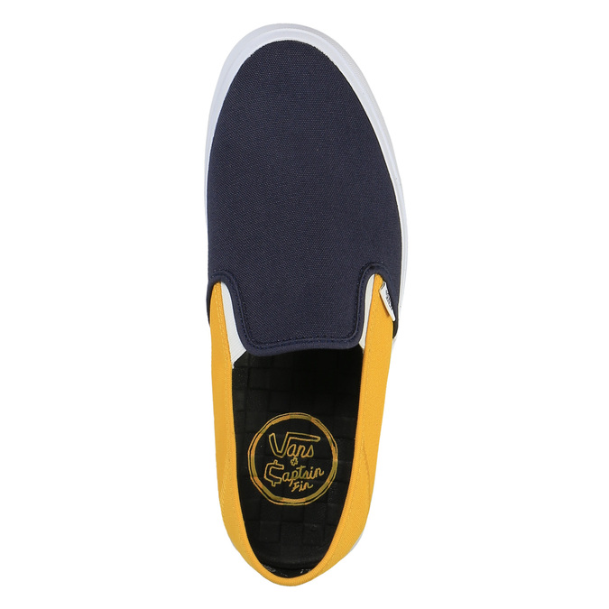 Pánské ležérní Slip on vans, modrá, žlutá, 839-8002 - 19