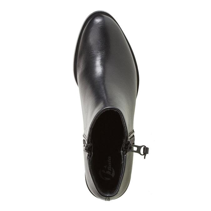 Kožená kotníčková obuv bata, černá, 594-6145 - 19