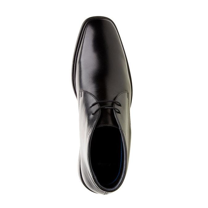 Kožené kotníčkové boty climatec, černá, 894-6209 - 19