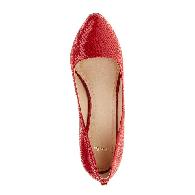 Červené kožené lodičky bata, červená, 726-5102 - 19