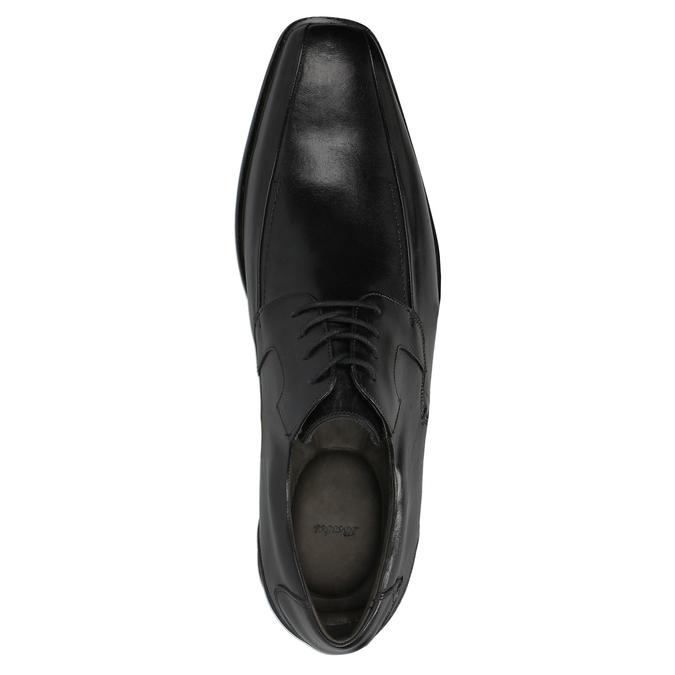 Pánské kožené polobotky bata, černá, 824-6721 - 19