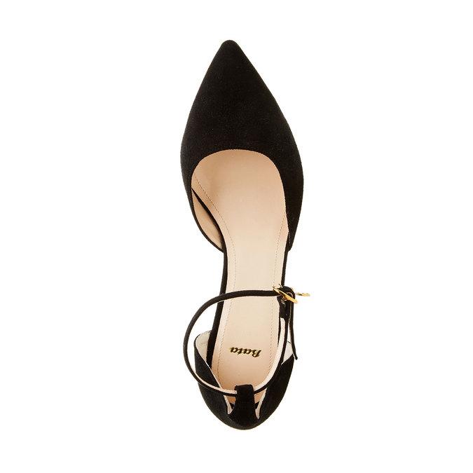 Kožené lodičky na Stiletto podpatku bata, černá, 723-6109 - 19