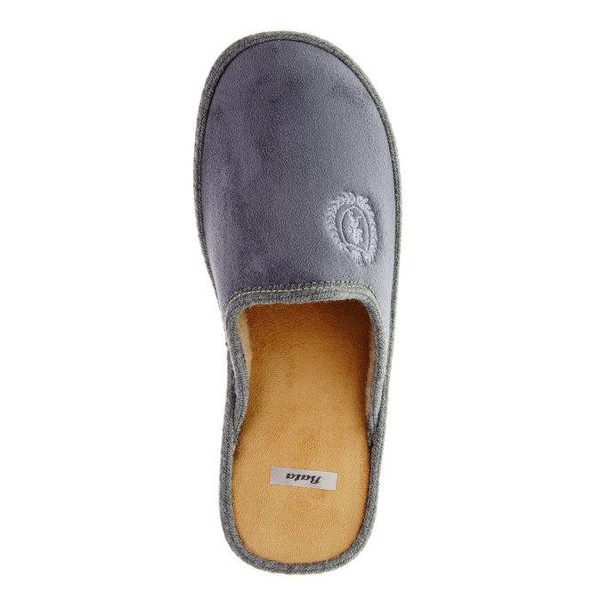 Pánská domácí obuv bata, šedá, 879-2165 - 19