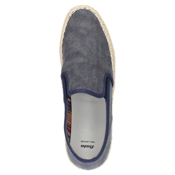 Pánské Slip on boty bata, modrá, 839-9116 - 19