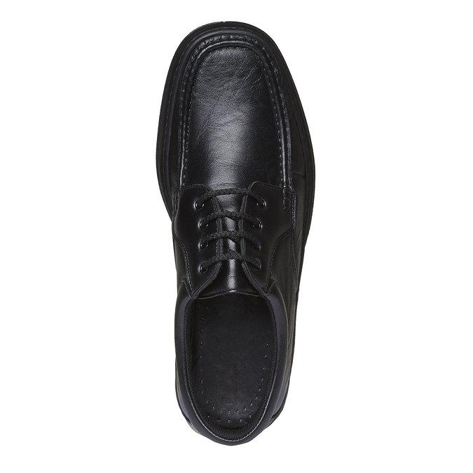 Kožená obuv pinosos, černá, 824-6760 - 19