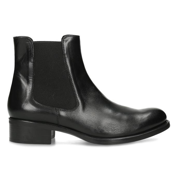 Kožená Chelsea obuv bata, černá, 594-6448 - 19