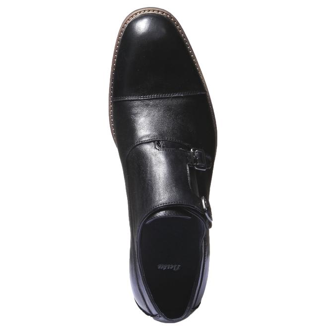 Kožené polobotky v Monk stylu bata, černá, 814-6709 - 19