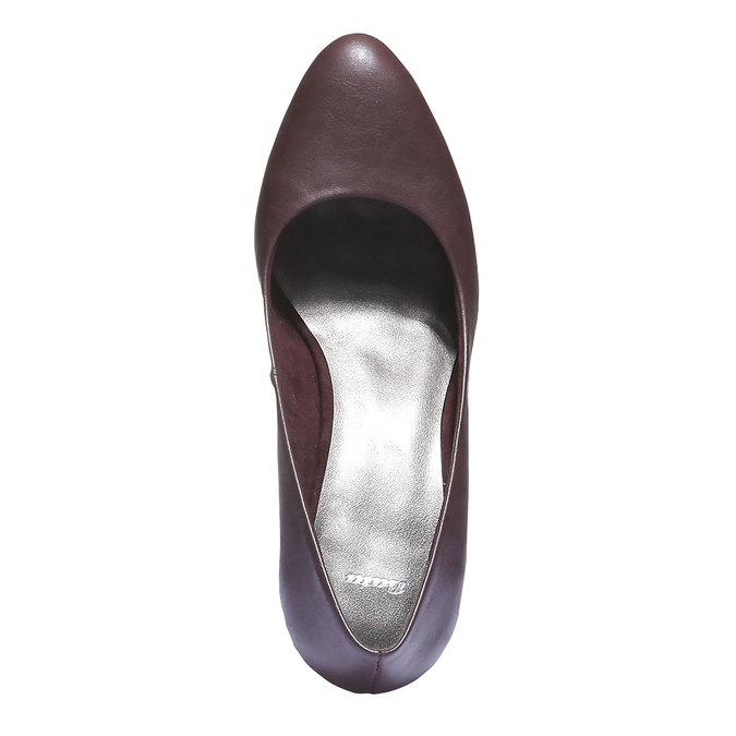 Lodičky na středně vysokém podpatku bata, fialová, 721-5222 - 19