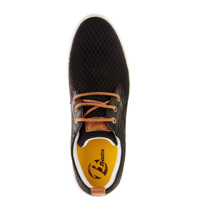 Ležérní kožené tenisky se strukturou bata, 843-9320 - 19
