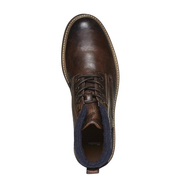 Kožené kotníkové boty bata, hnědá, 894-4133 - 19