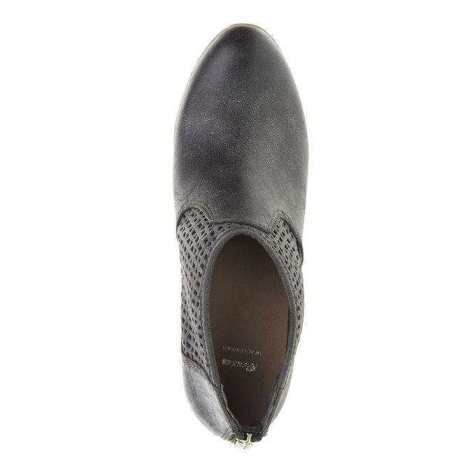 Kotníčkové kozačky na podpatku bata, černá, 691-6106 - 19