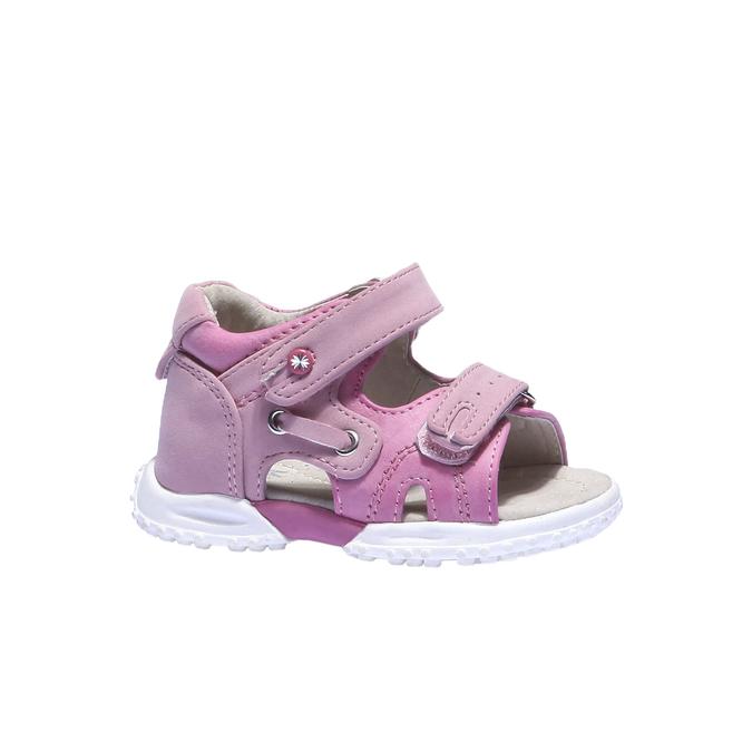 Dívčí sandály mini-b, červená, 161-5116 - 13