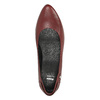 Kožené lodičky na nízkém podpatku bata, červená, 624-5603 - 19