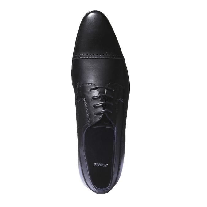 Kožené derby bata, černá, 824-6850 - 19