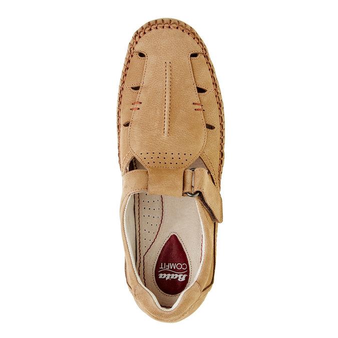 Pánské kožené sandály comfit, hnědá, 866-3184 - 19