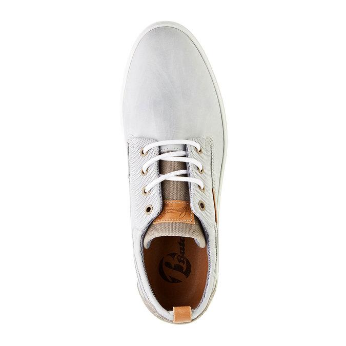 Ležérní kožené tenisky bata, šedá, 844-2310 - 19